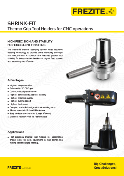 SHRINK-FIT Thermo Grip Tool Holders for CNC operations